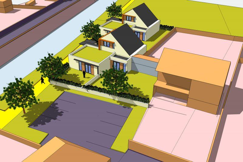 Projet de création de 4 logements individuels dans une petite commune de Côte d'Or - Architecture Athias