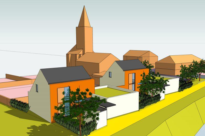 Etude de construction de logements avec leur implatation dans la commune - Architecture Athias