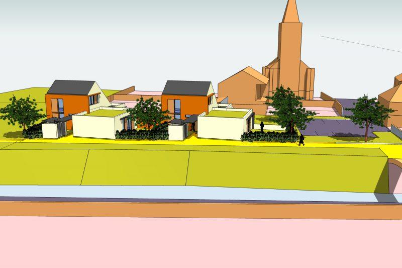 Représenation 3D des logements avec leur implatation dans la commune - Architecture Athias