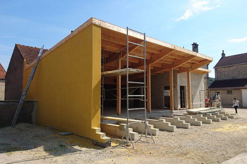Réhabilitation et extension d'une salle communale en Côte d'Or - Athias Architecte