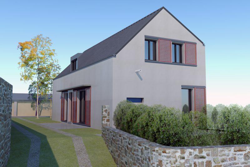 Construction neuve d'une maison individuelle BBC - Architecture Athias