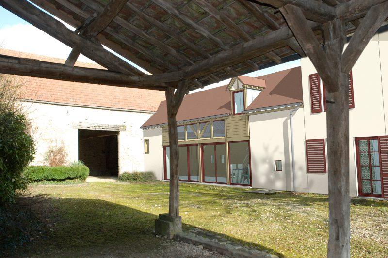 Projet de réhabilitation d'une ancienne ferme à Dijon - Vincent Athias Architecte