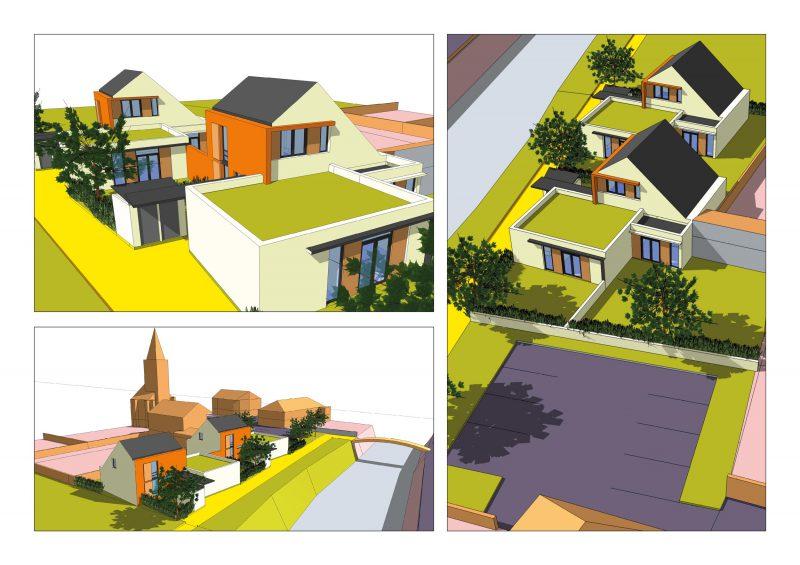 simulations pour le projet d'habitat groupé de Remilly-sur-Tille (projet d'agence)