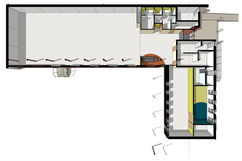 Plan de la salle communale multiusage au Vernois à Rémilly Sur Tille - Architecte Vincent Athias