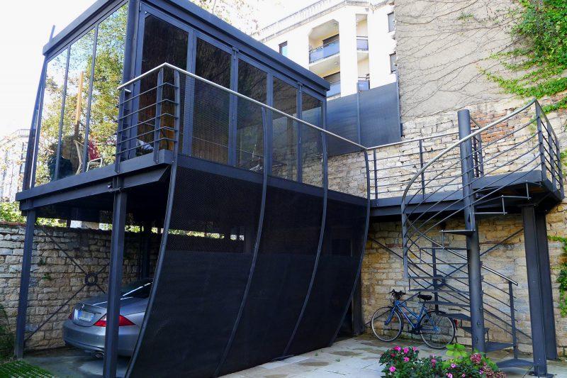 Salon d'été en extérieur - Athias Architecte
