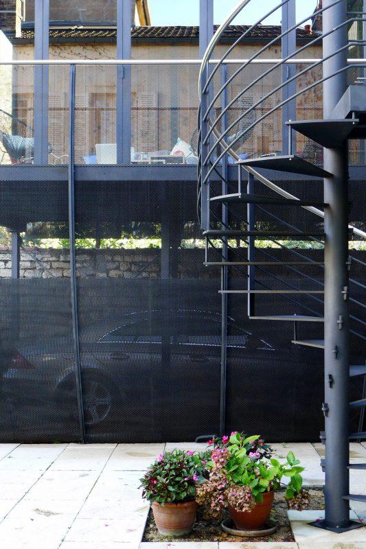 Salon d'été en extérieur à Dijon - Athias Architecte