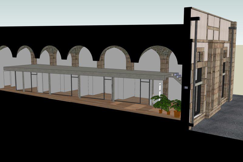 Plan du loft Grevin - Athias Architecture