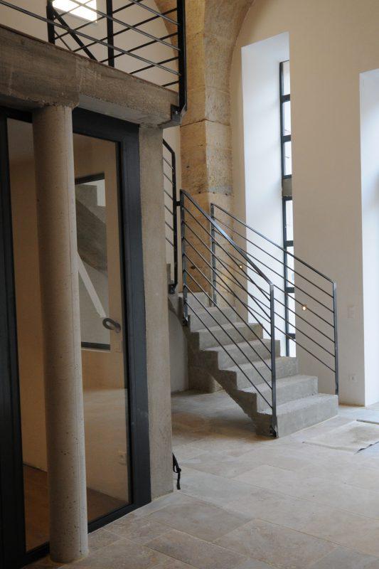 Escaliers et alcôves vitrées Loft Grevin - Athias Architecture