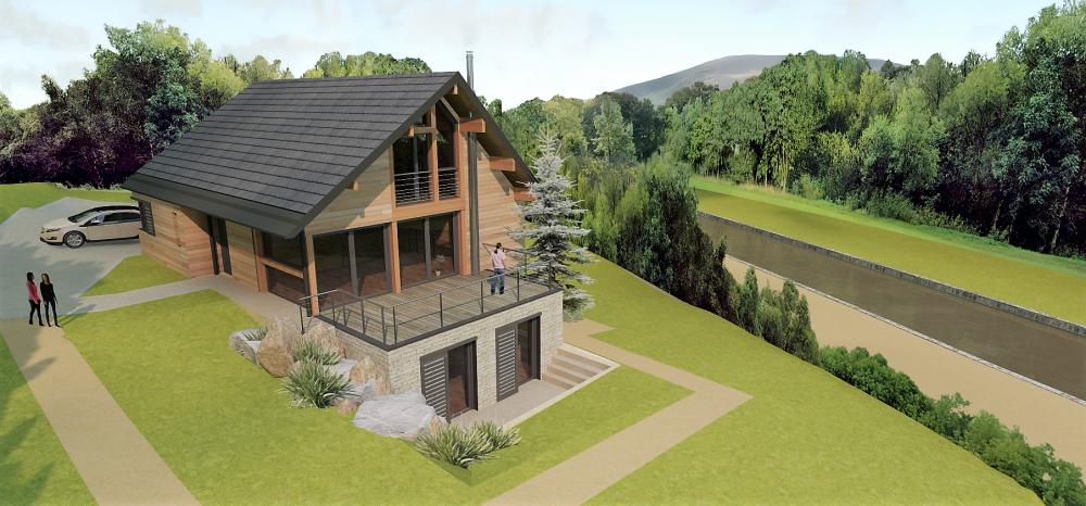 Une maison bois et pierre en vall e de l ouche vincent - Maison bois et beton ...