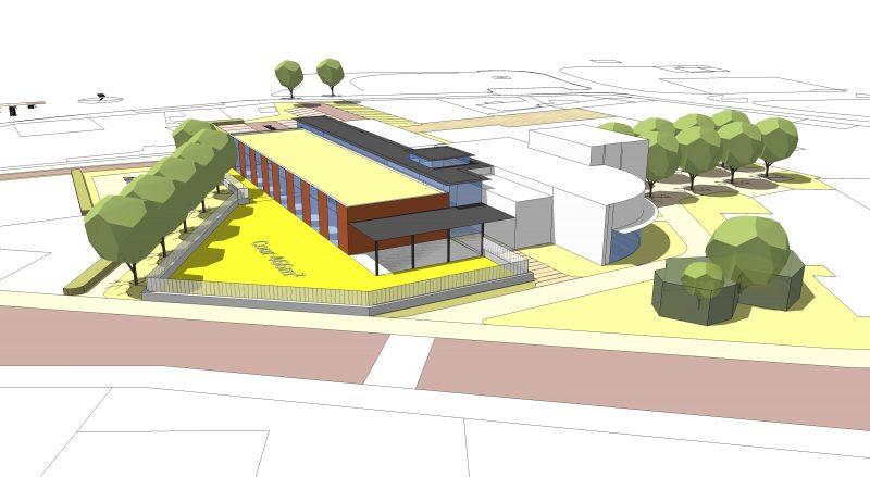 Simulation Sud de l'implantation du CLSH de Neuilly-les-Dijon